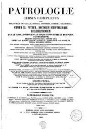 Patrologiae latina cursus completus ... series prima: Volume 20