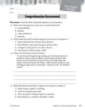 Dragonwings Comprehension Assessment