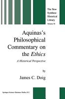 Aquinas   s Philosophical Commentary on the Ethics PDF