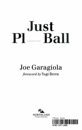 Just Play Ball PDF