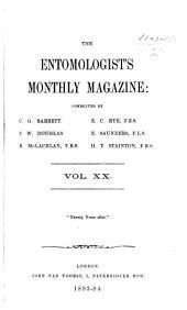 The Entomologist's Monthly Magazine: Volumes 20-21