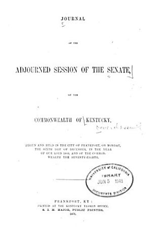 Journal of the Senate of the Commonwealth of Kentucky PDF