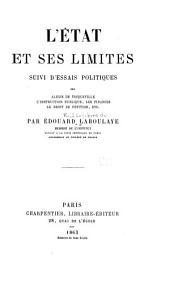 L'état et ses limites: suivi d'essais politiques ...
