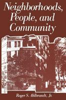 Neighborhoods  People  and Community PDF