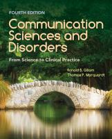 Communication Sciences and Disorders  From Science to Clinical Practice PDF
