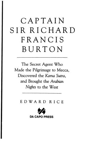 Captain Sir Richard Francis Burton