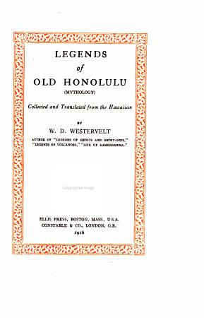 Legends of Old Honolulu  mythology  PDF