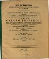 De cetropio eiusque curatione chirurgica exemplo illustrata: diss. inaug. med. ophtalm. : cum tab. lith