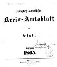 K  niglich bayerisches Kreis Amtsblatt der Pfalz PDF