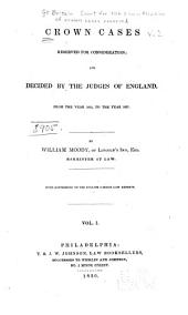 Crown Cases Reserved for Consideration: 1824 to 1837