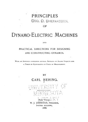 Principles of Dynamo eletric Machines  and Practical Directions for Designing and Constructing Dynamos