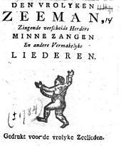 Den vrolyken zeeman, zingende verscheide herders minnezangen en andere vermakelyke liederen