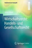 Wirtschaftsrecht  Handels  und Gesellschaftsrecht PDF
