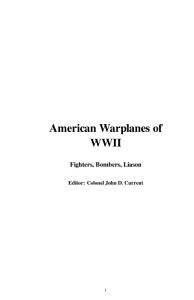 American Warplanes of WWII PDF