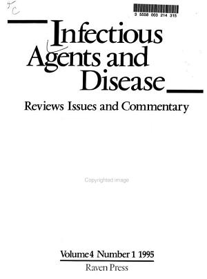 Infectious Agents and Disease PDF