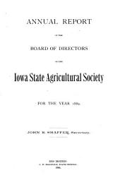 Report of the Secretary of the Iowa State Agricultural Society, for the Year ...