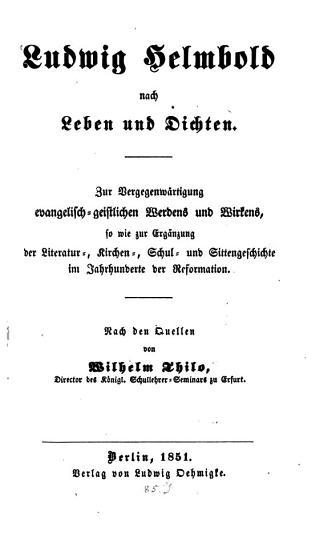 Ludwig Helmbold nach Leben und Dichten PDF