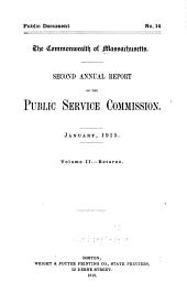 Annual Report of the Public Service Commission: Volume 2
