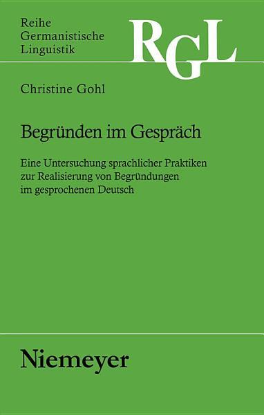 Begr  nden im Gespr  ch PDF