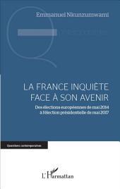 La France inquiète face à son avenir: Des élections européennes de mai 2014 à l'élection présidentielle de mai 2017