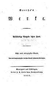 Goethe's werke: Band 48
