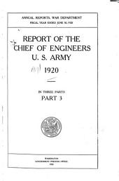 Annual Report of the Chief of Engineers, United States Army: Part 3
