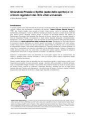Pineale e gli ormoni regolatori dei ritmi vitali universali: Ghiandola Pineale o Epifisi... 4 ormoni regolatori dei ritmi vitali universali