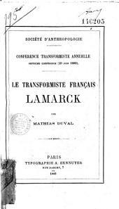 Le Transformiste français Lamarck