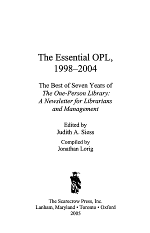 The Essential OPL  1998 2004