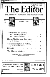 The Editor: The Journal of Information for Literary Workers, Volume 37