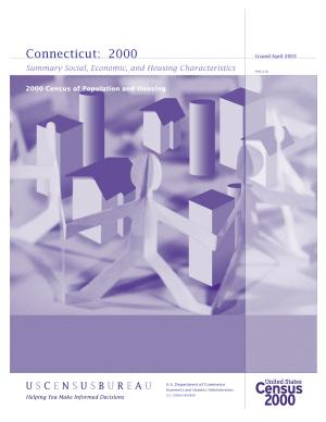 Census of population and housing  2000   Connecticut Summary Social  Economic  and Housing Characteristics PDF