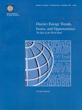 District Energy Trends, Issues, and Opportunities: The Role of the World Bank, Volumes 23-493