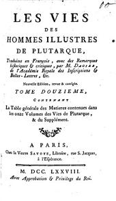 Vies des hommes illustres: Volume12