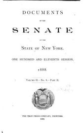 Documents of the Senate of the State of New York: Volume 2