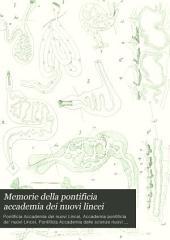 Memorie della pontificia accademia dei nuovi lincei: Volume 9