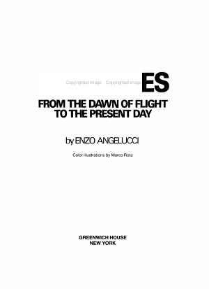 Airplanes  from the Dawn of Flight to the Present Day PDF