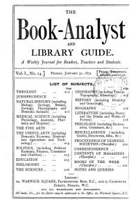 The Book analyst and Library Guide PDF