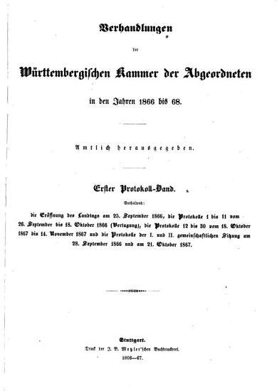 Verhandlungen der W  rttembergischen Kammer der Abgeordneten auf dem Landtag PDF