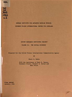Soviet Research Institutes Project  The social sciences PDF