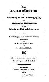 Neue Jahrbücher für Philologie und Pädagogik: Band 44