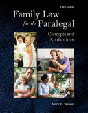 Family Law for the Paralegal PDF