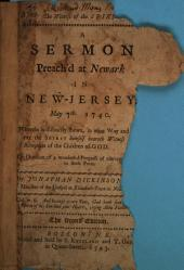 The witness of the Spirit: A sermon preach'd at Newark in New-Jersey, May 7th, 1740. Wherein is distinctly shewn, in what way and manner the Spirit Himself beareth witness to the adoption of the children of God. On occasion of a wonderful progress of converting grace in those parts ...