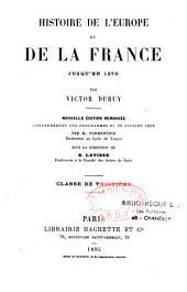 Histoire de l'Europe et de la France jusqu'en 1270: classe de 3ème