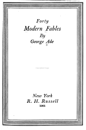 Forty Modern Fables: Volume 3