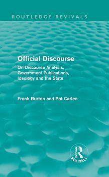 Official Discourse  Routledge Revivals  PDF