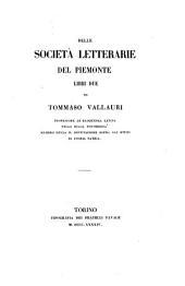 Delle società letterarie del Piemonte