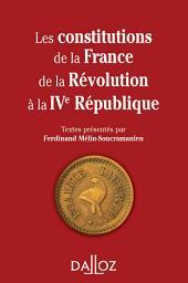 Les constitutions de la France de la Révolution à la IVe République