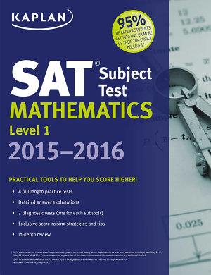 Kaplan SAT Subject Test Mathematics Level 1 2015 2016