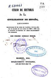 Curso de historia de la civilización de España: (1841. 339 p.)