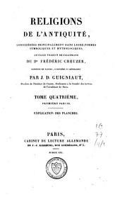 Religions de l'antiquité, considérées principalement dans leurs formes symboliques et mythologiques: Volume4